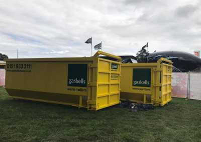 gaskell commercial waste containers at carfest