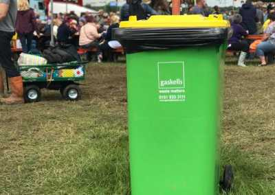 gaskell commercial waste bins at carfest