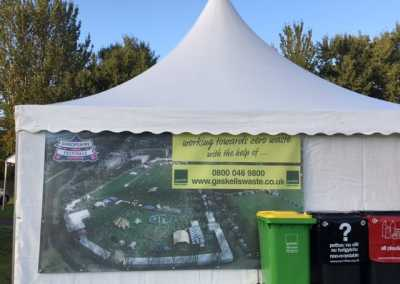 gaskells commercial waste bins at shropshire festival