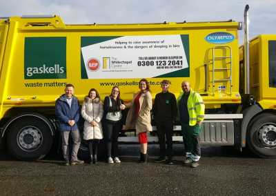 gaskells commercial waste shaking on a new contract