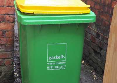 gaskells commericial bins for wigan and leigh hospice
