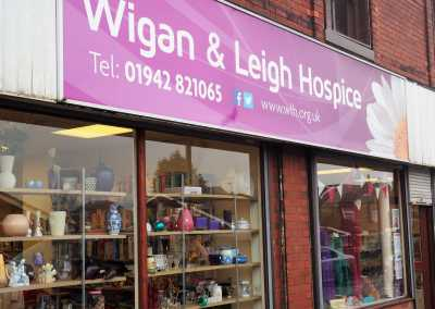 gaskells collecting and disposing waste at the wigan and leigh hospice