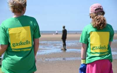 Gaskells clean up at Iconic Liverpool Beach