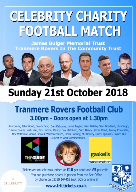 Gaskells Supporting Celebrity Football Match in Memory of James Bulger