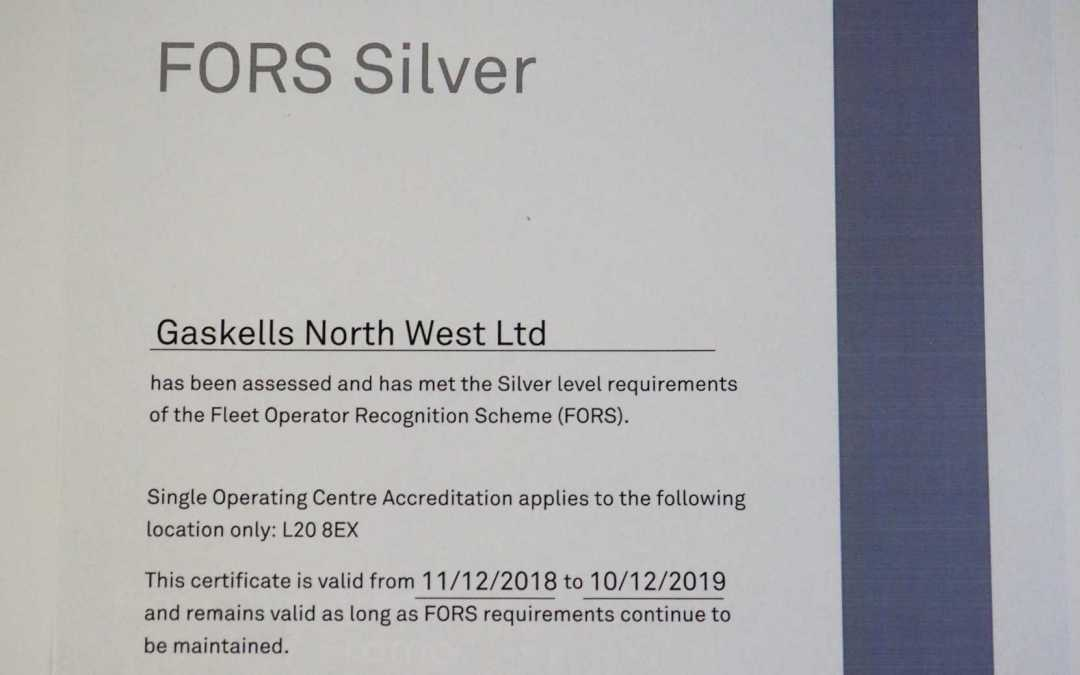 Gaskells awarded FORS Silver