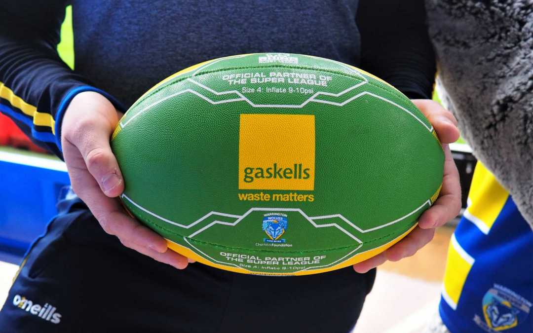 New balls please!! Gaskells teams up with Warrington Wolves Foundation.