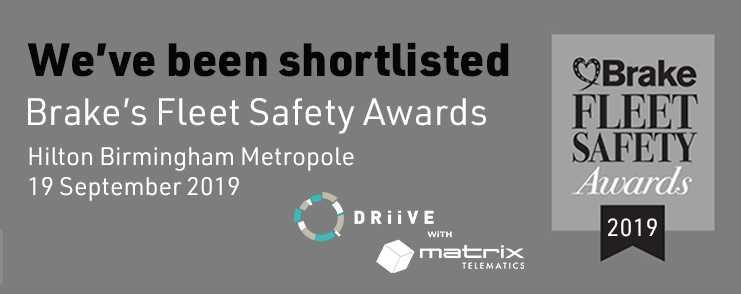 We're finalists at Brake Road Safety Awards