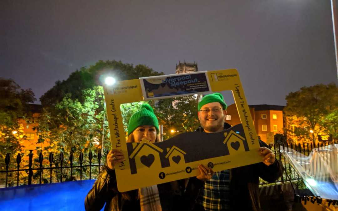 Gaskells scores Hat-trick of Sleepouts for The Whitechapel Centre